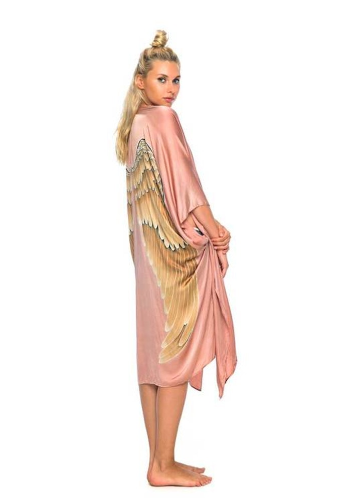 "Luxe silk kimono ""Musk"" long - Warriors of the divine"