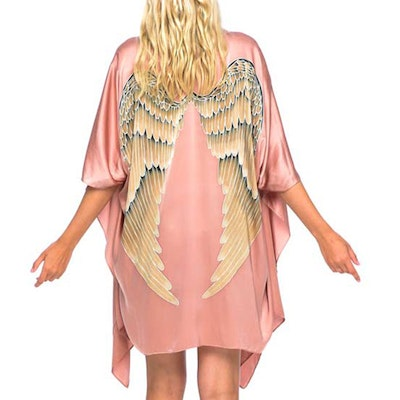 "Luxe silk kimono short ""Musk"" - Warriors of the divine"