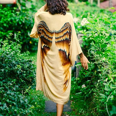 "Everyday kimono ""Golden Goddess Caramel wings"" - Warriors of the divine"