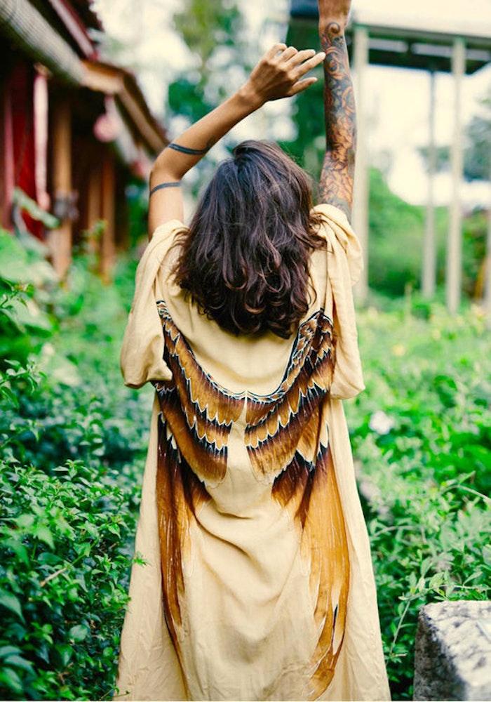 """Everyday kimono """"Golden Goddess Caramel wings"""" - Warriors of the divine"""
