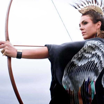 "Luxe silk kimono long ""Black silver warrior wings"" - Warriors of the divine"