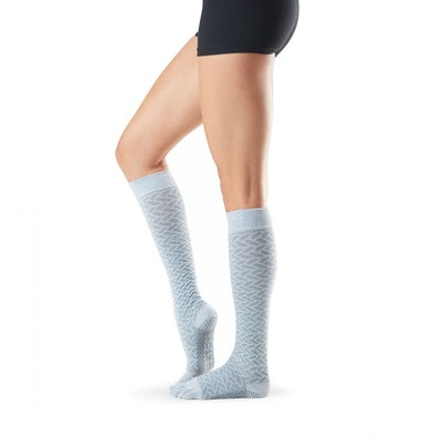 Yogastrumpor Fulltoe Scrunch Knee Frost - Toesox