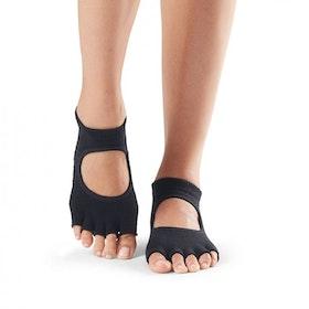 Yogastrumpor Halftoe Bellarina Grip Black - ToeSox