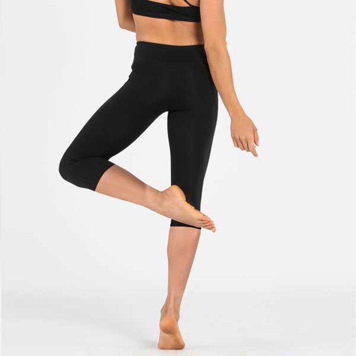 Yogaleggings Crops Plain black från Dharma Bums