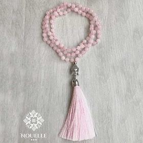 Mala halsband Buddha Rosenkvarts från Nouelle