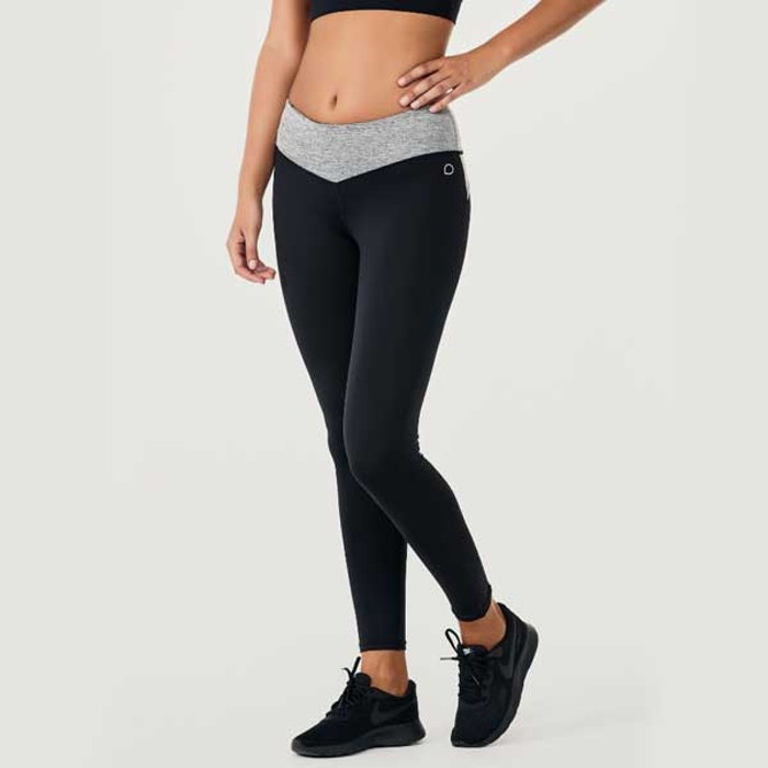 Yogaleggings BOW II Black/Grey - DOM