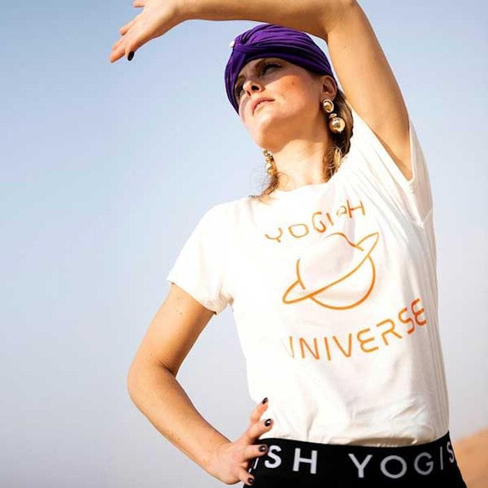 "Tröja Kim Unisex ""Yogish Universe Planet"" Coconut milk - Yogish Collective"