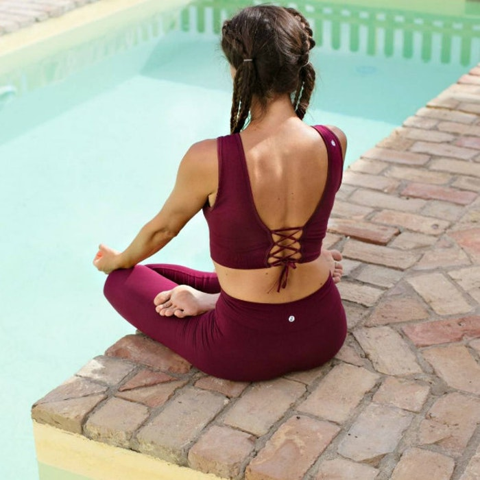 Yogaleggings Bandha bamboo Port Wine Red från Run & Relax