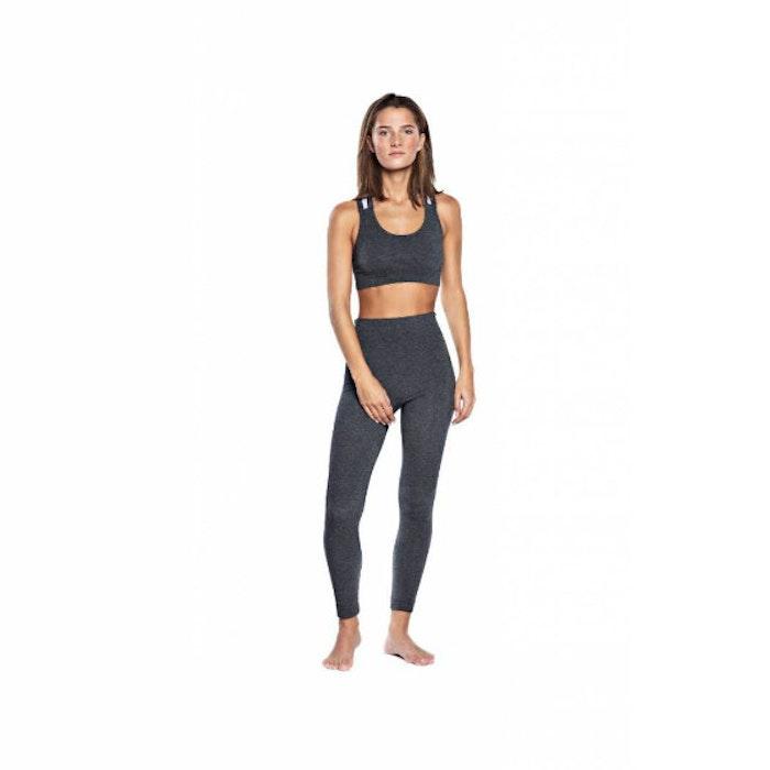 """Yoga-BH """"Wide Elastic"""" Grey Melange från Run & Relax"""