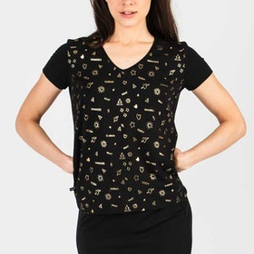 T.shirt Black/Gold - Wear my yoga