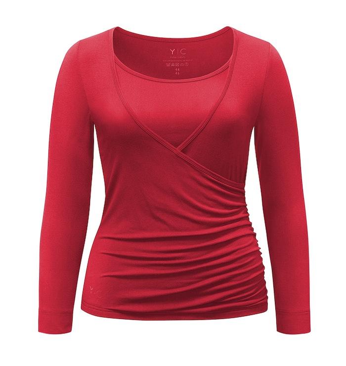 Yogatopp Wrapshirt Cherry Curare Yogawear - från XXL