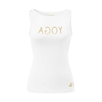 Yogalinne Gold/white Yoga tanktop - Curare Yogawear