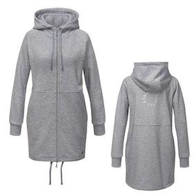 Lång hoodie/jacka grå - Curare Yogawear