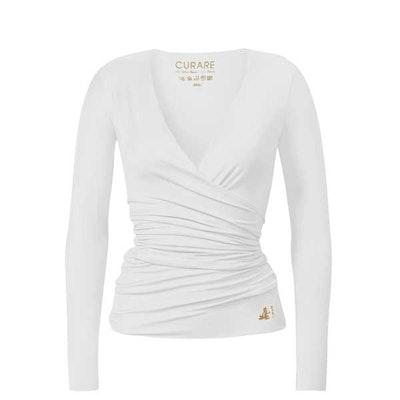 Yogatopp Wrap Jacket white/gold - Curare Yogawear