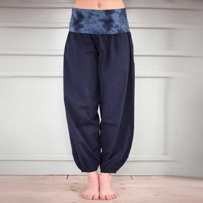 Yogabyxor Dark blue Bubble pants - Paw Paw yogawear