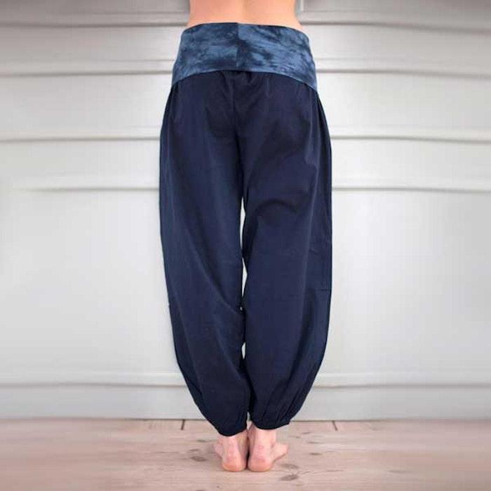 Yogabyxor Dark blue Bubble pants - Paw Paw yogawear