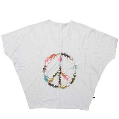T-shirt Bat Peace White - Wear my yoga