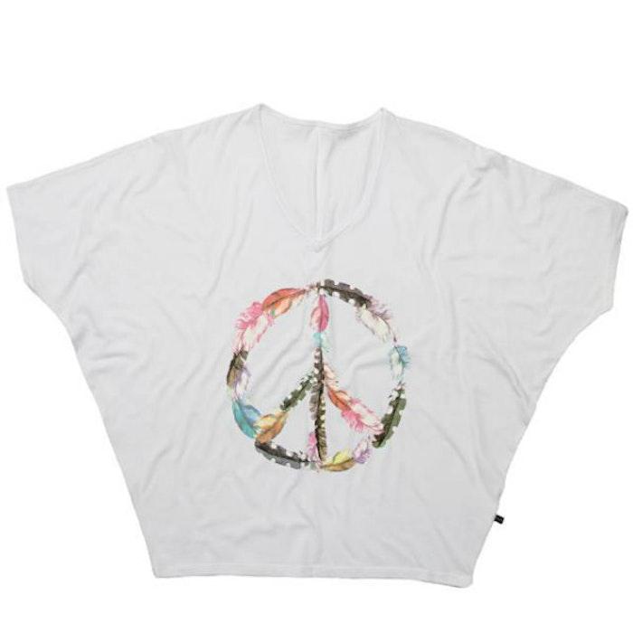 T-shirt Bat Peace White - Wear my yoga