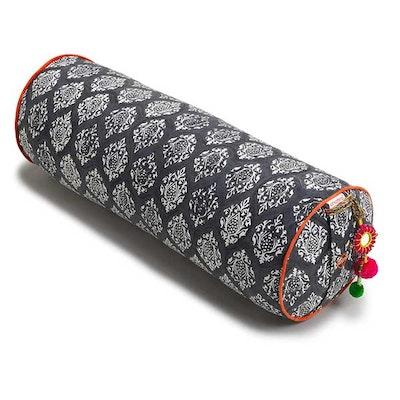 Yogabolster Rund från Chattra - Charcoal Darpan