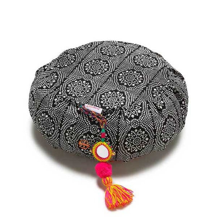 "Meditationskudde Chattra Zafu ""Black Bandhani"" - Chattra"