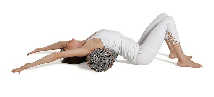 "Yogabolster Rund ""Black Bandhani"" - Chattra"