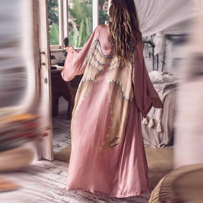 "Silk angelwings Bathrobe ""Musk"" - Warriors of the divine"