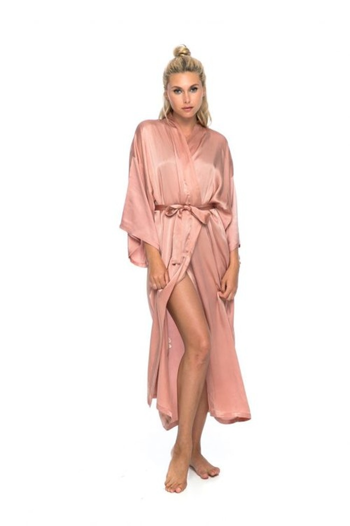 "Silk angelwings Bathrobe ""Musk"" - Warriors of the divine"
