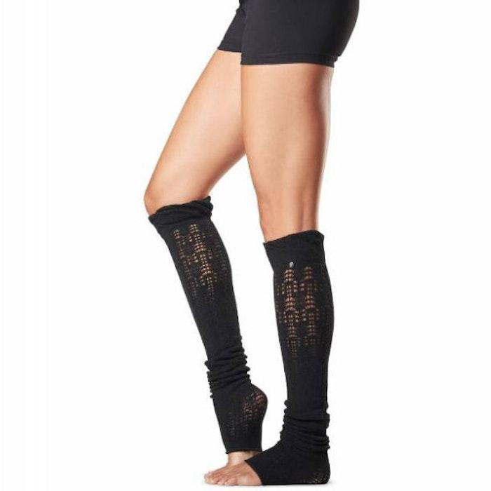 Benvärmare Toesox Ava Knee High - Black