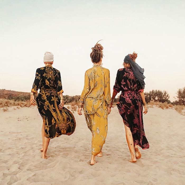 "Exklusiv kimono ""Sunflower Power"" - Brahmaki"