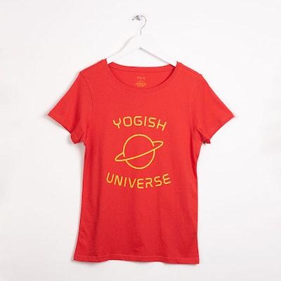 "Tröja Kim Unisex ""Yogish Universe Planet"" Röd - Yogish Collective"