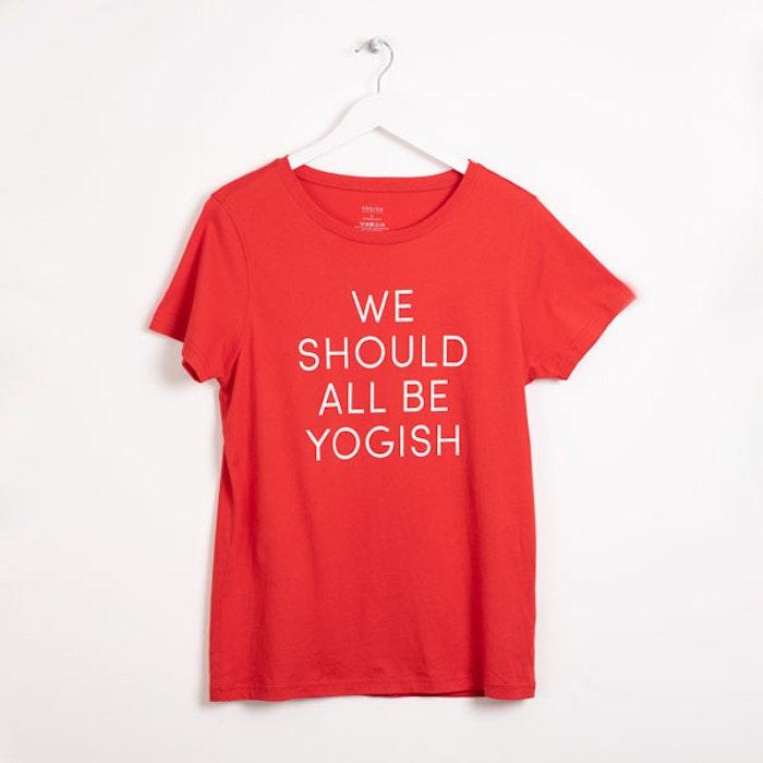 "Tröja Kim Unisex ""We should all be Yogish"" Röd - Yogish Collective"