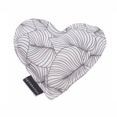 Värme/kyla hjärta Vit med Grått mönster - Nytta Design