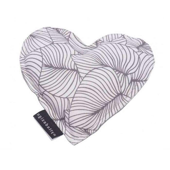 Värme/kyla hjärta från Nytta Design -  Vit/Grå mönster