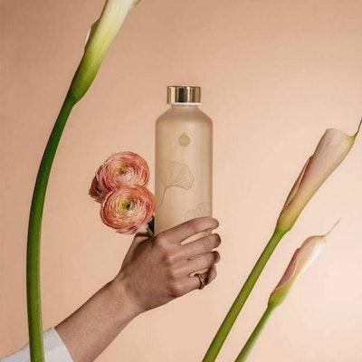 Vattenflaska Mismatch Ginkgo i glas - Equa