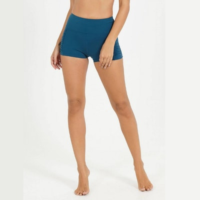 Yogashorts Emerald Kinetic Side Rouched från Dharma Bums