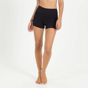 Yogashorts Black Kinetic Side Rouched från Dharma Bums