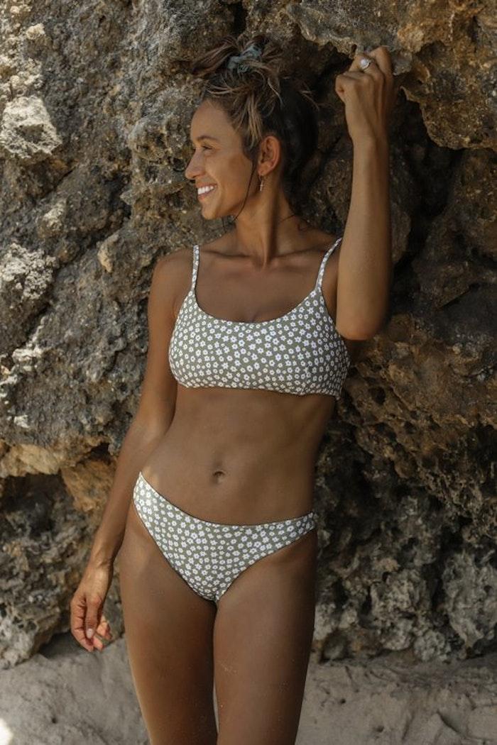 Bikinitrosa Ophelia Daisy Olive - Indigo Luna