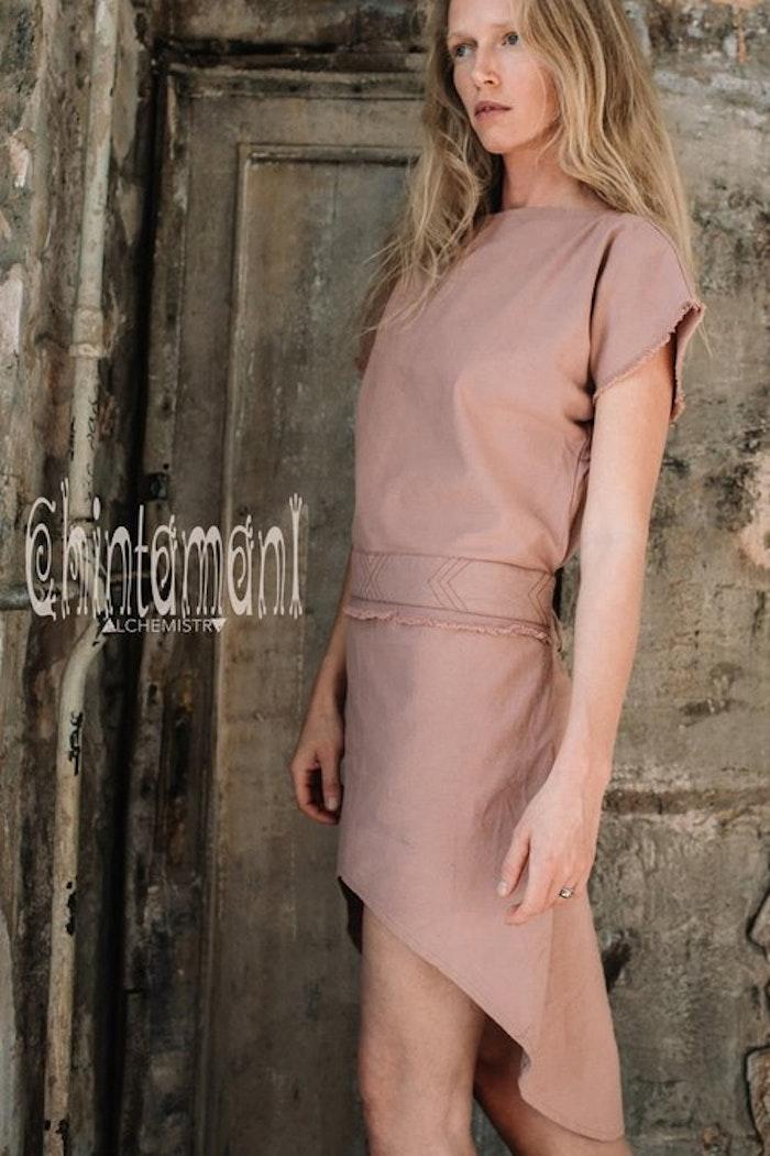 Klänning Atua Tino short dress Dusty pink - Chintamani Alchemi