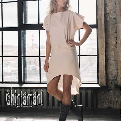 Klänning Atua Tino short dress Natural - Chintamani Alchemi