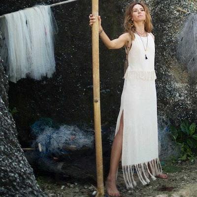 Klänning Chakruna dress Natural - Chintamani Alchemi