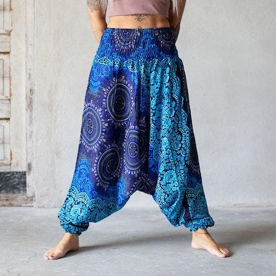 Haremsbyxa nr. 18 Blå cirklar - Bohemian Harem