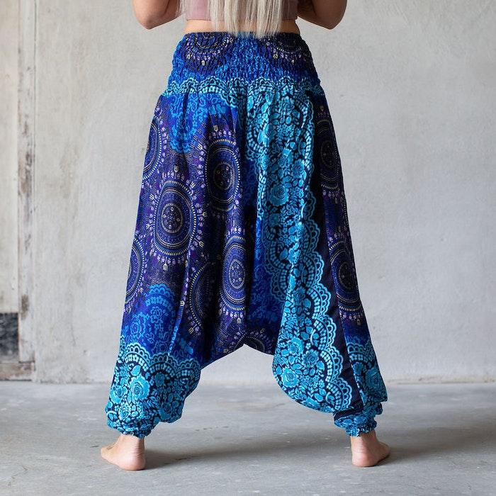 Haremsbyxa Blå cirklar - Bohemian Harem