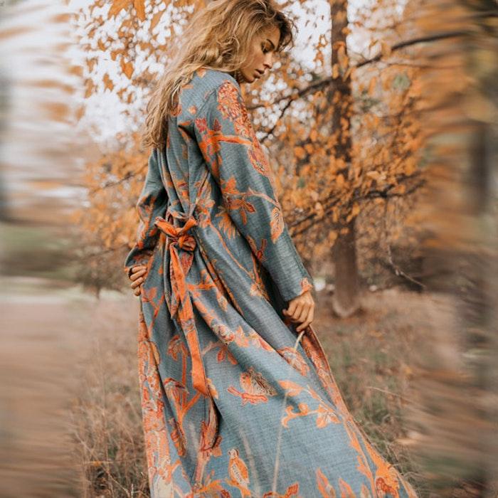 """Exklusiv kimono """"Ocean coral"""" - Brahmaki"""