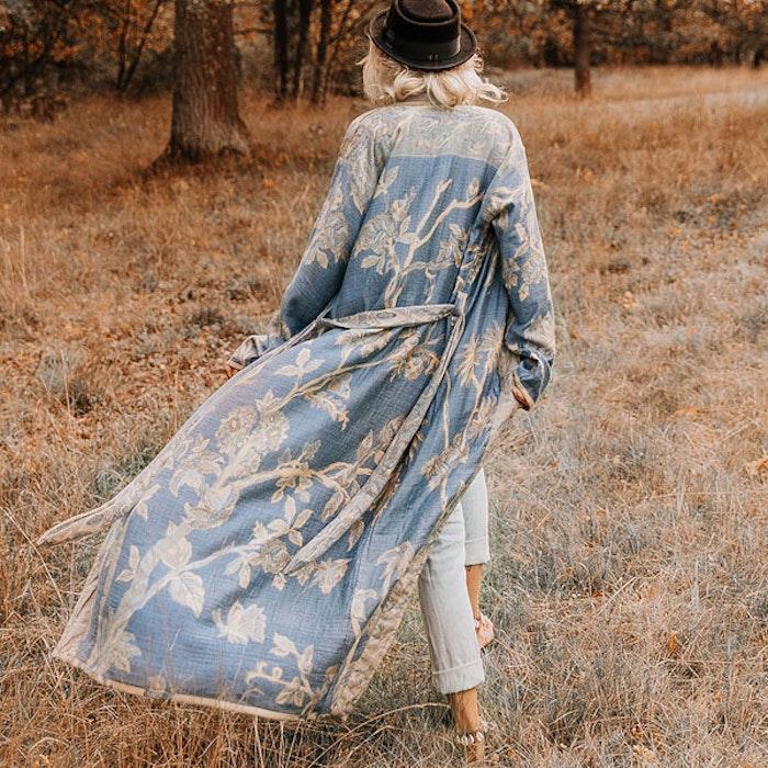 """Exklusiv kimono """"Forget me not"""" - Brahmaki"""