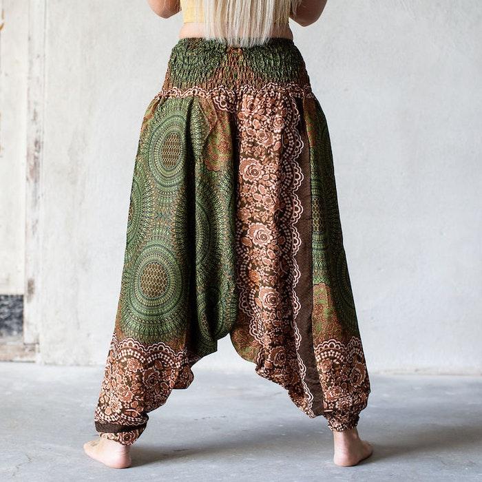 Haremsbyxa Olivgröna cirklar - Bohemian Harem