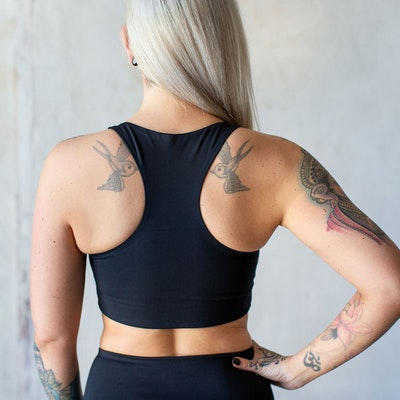 Sport-BH Yoga Paloma Black - Girlfriend Collective