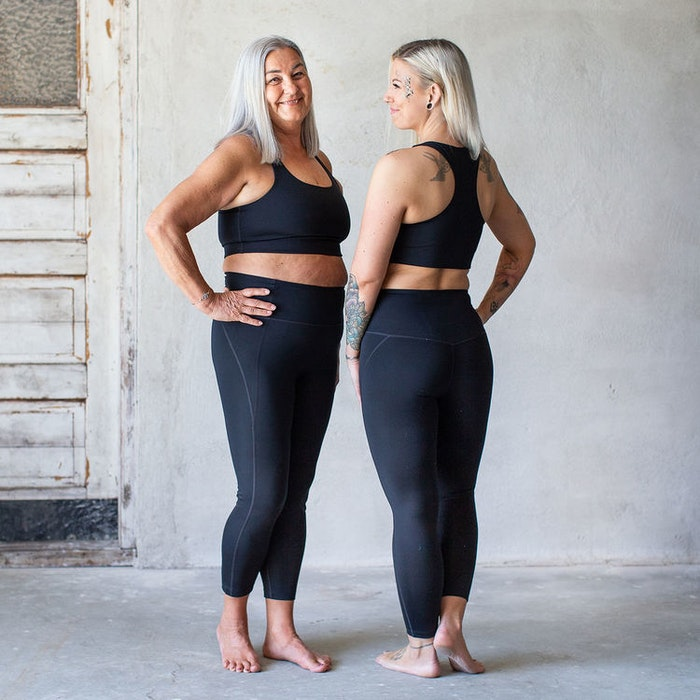Yoga top Paloma Cropped Black - Girlfriend Collective