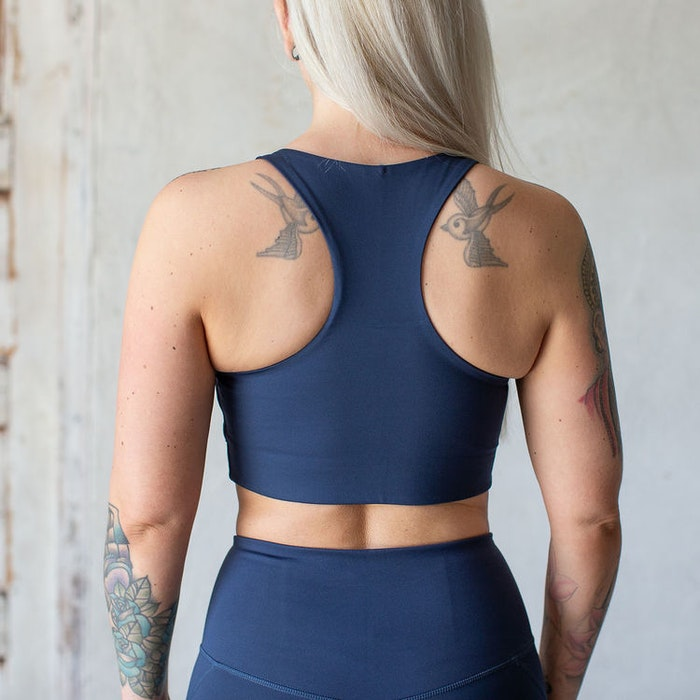 Yoga top Paloma Cropped Midnight - Girlfriend Collective