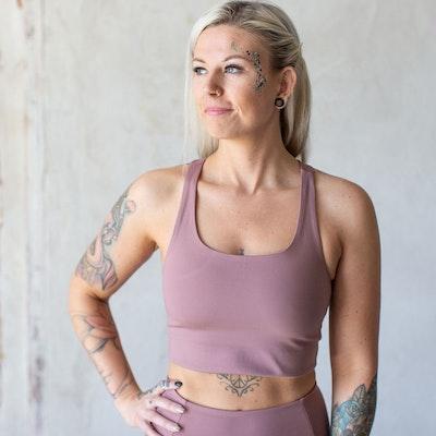 Yoga top Paloma Classic Rose Quartz - Girlfriend Collective