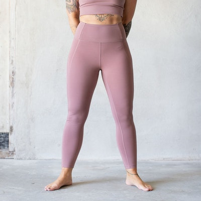 Yoga leggings High rise 7/8 Rose Quartz - Girlfriend Collective